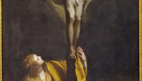 Maddalena ai piedi della croce. Opera di Claudio Ridolfi esposta a Corinaldo
