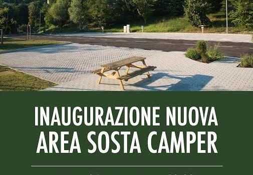 Inaugurazione della nuova area sosta camper