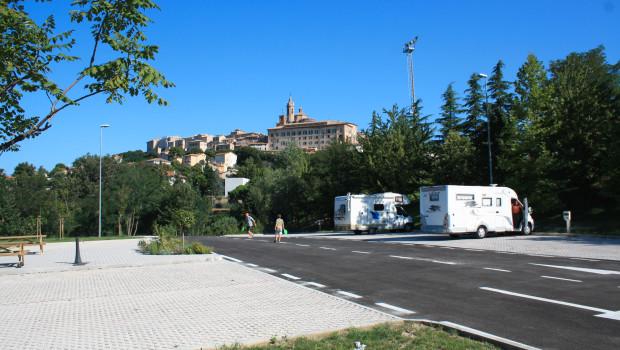 Nuova area sosta camper di Corinaldo
