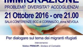 Immigrazione: un incontro per conoscere tutta la situazione A Corinaldo anche la Prefettura e l'UNHCR