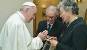 I coniugi berti da Papa Francesco