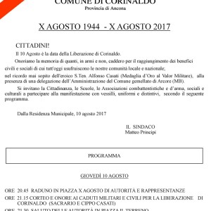 Festa dalle liberazione 10 agosto 2017 Corinaldo